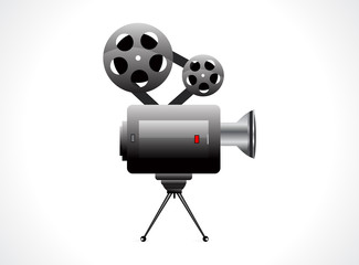 abstract video camera icon