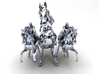cavalli metallo cromato acciaio