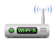 Wireless Router Icon. Vector Illustration
