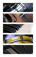 Musique, site, bannière, bandeau, musical, instrument