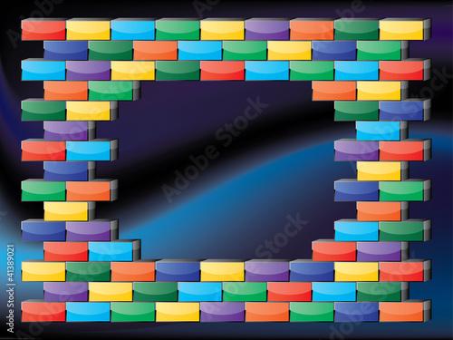 Glossy bricks frame