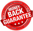 "Button Banner ""Money Back Guarantee"" Red"