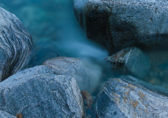 mountain stream, long exposure