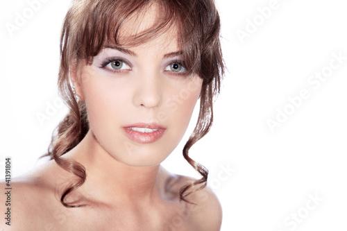 Beauty Frau blickt hübsch