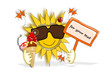 Sonne, Sommer, Eis mit Textfeld
