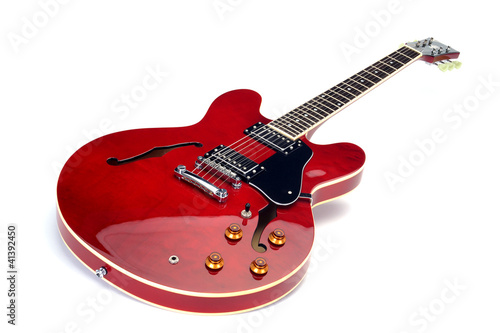 E-Gitarre, Semiakustik, Cherry Red