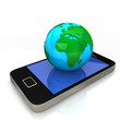 Smartphone Blue Green Globe