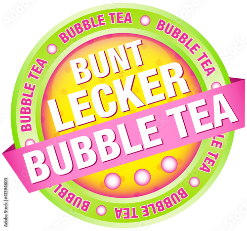 "Button Banner ""Bunt, lecker, Bubble Tea"" grün"