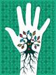 Go green hand tree