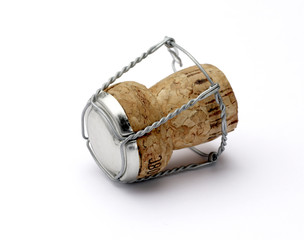 champagne cork shallow dof with clipping path