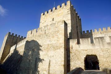 Sao Jorge Castle in Lisbon, Portugal.