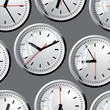 Wall clock. Vector illustration. Seamless.