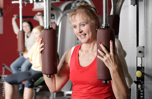 Elderly woman training in Fitness Center