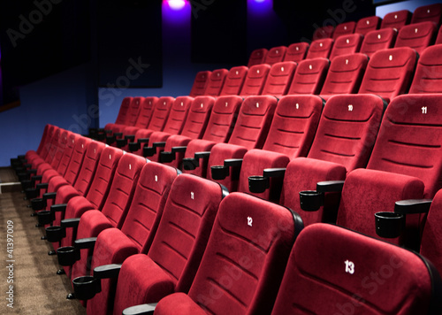 Rows of cinema seats
