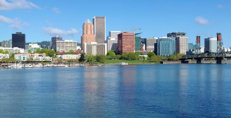 Portland Oregon skyline, panorama.