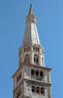Ghirlandina Tower, pollen floating in the air