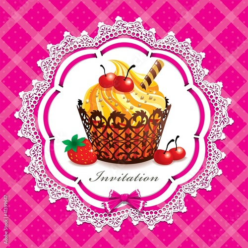 Vitnage cute cupcake design