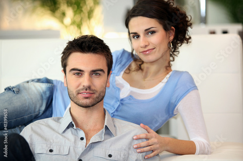 Young couple relaxing