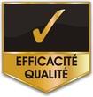 bouton efficacité qualité