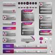 web design template elements, hugh collection, eps10 vector
