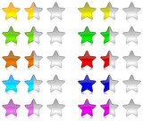 Rating vector stars set colored
