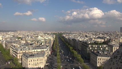 panorama over Paris