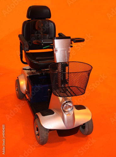 An Electric Four Wheeled Motorised Disability Scooter.