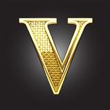 Vector golden figure