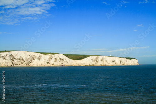 Landscape view of white cliffs of Dover