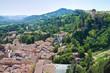 Panoramic view of Brisighella. Emilia-Romagna. Italy.