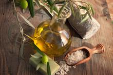 Réglage Spa naturel avec l'huile d'olive.