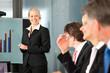 Business - Präsentation in einem Team