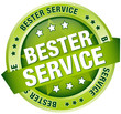 """Button Banner """"Bester Service"""" grün"""