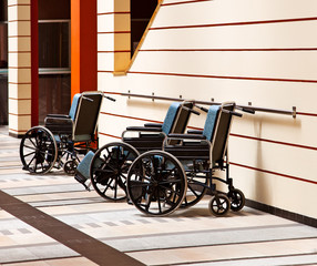 Wheelchairs in the hospital.