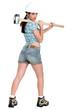 Sexy woman laborer