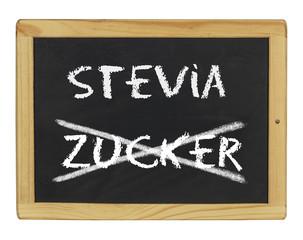 Tafel mit Stevia und Zucker