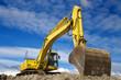 Yellow excavator - 41407882