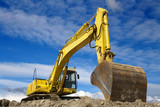 Fototapety Yellow excavator