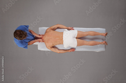 rehabilitation - neck massage with physical therapist