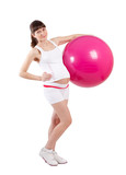 Pregnancy woman fitness with fitball
