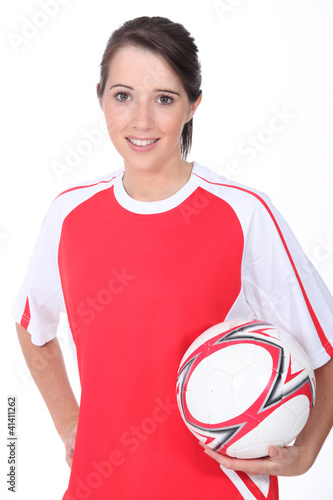 Woman football player