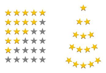 Bewertungszeichen, Sterne