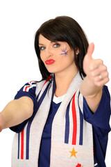 Female French football fan