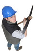 Young laborer with pick-ax