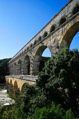 Pont du Gard - Roman aqueduct in southern France near Nimes.