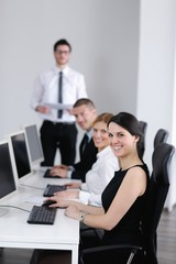 business people group working in customer and helpdesk office