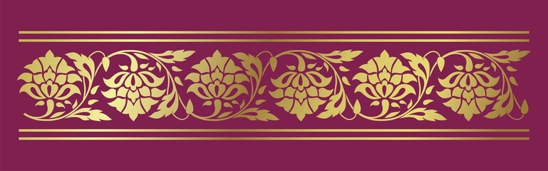 traditional floral border, textile , Rajasthan, royal India