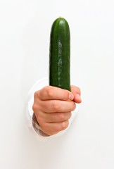 Cucumber in the chiefs hand