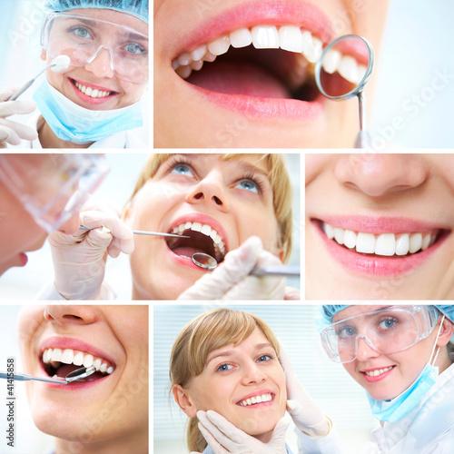 gesunde Zähne und Zahnarzthelfer
