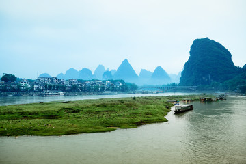 yangshuo scenery in guilin,China